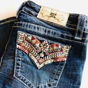 Miss Me aztec pocket bling boot jeans 28